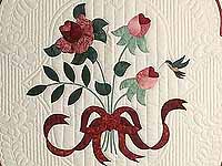 Burgundy and Rose Lancaster Treasures Quilt