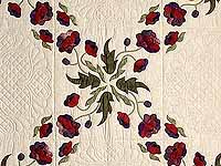 Mauve and Burgundy Poppy Fields Quilt