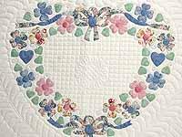 Pastel Hearts Bouquet Quilt