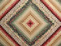 King Green Burgundy and Gold Color Splash Quilt