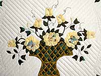 Yellow Rose of Texas Flower Basket Quilt