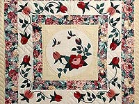 King Rose and Green I Promised You a Rose Garden Quilt