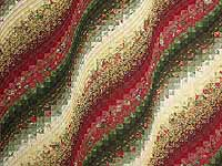 Green Paprika and Ivory Bargello Wave Quilt
