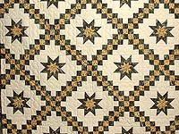 Marble and Gold Star Irish Chain Quilt
