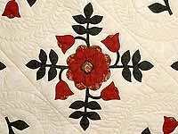 Red and Green Ohio Rose Quilt