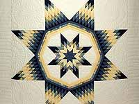Navy Blue and Yellow Royal Star of Maryland Quilt