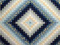 Navy and Gold Color Splash Quilt