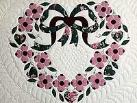 Pink and Green Dogwood Applique Quilt