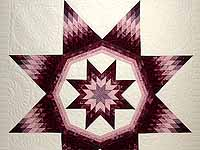 Plum and Lavender Royal Star of Maryland Quilt