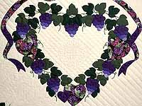 Purple and Green Love in the Vineyard Quilt