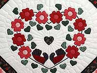 Red Black and Green Sunshine Sweetheart Quilt