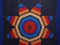 Amish Radiant Lone Star Quilt