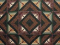 Plum and Green Somerset Quilt