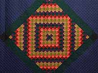 Amish Sunshine Diamond Quilt