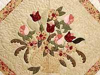 King  Rose and Gold  Spring Basket Quilt