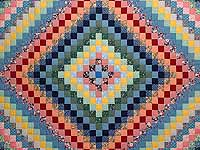 Multicolor Trip Around the World Quilt