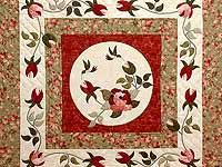 Ivory Sage and Paprika I Promised You a Rose Garden Quilt