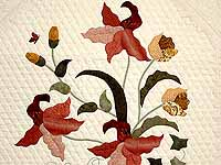 King Gold Sage and Brick Red Petal Showcase Quilt