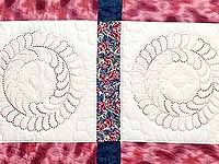 Rose and Blue Cross Stitch Quilt