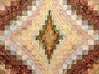 Hand Painted Pastels Diamond Bargello Quilt