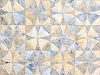 Pastel Blue and Maize Winding Ways Quilt