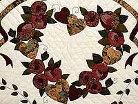 Plum Green and Gold Country Love Quilt