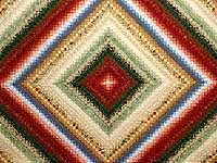 King Golden Yellow and Multicolor Postage Stamp Quilt