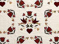 Rose and Gold Love Dove Quilt