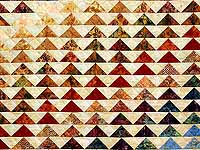 Hand Painted Rainbow Pyramid Quilt