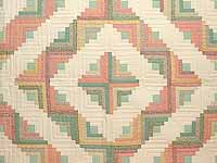 King Pastels Log Cabin Quilt