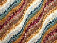 King Hand Painted Bargello Wave Quilt