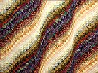 King Moss Plum and Willow Hand Painted Bargello Wave Quilt
