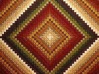 Green Wheat and Burgundy Color Splash Quilt