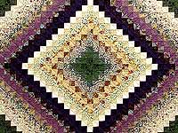 Lavender and Green Trip Around the World Quilt