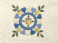 Blue and Yellow Appliqu Album Sampler