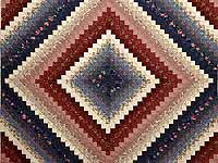 Navy Burgundy and Gold Trip Around the World Quilt