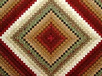 Sage Paprika Wheat and Ivory Color Splash Quilt