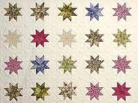 Lavender and Multi Variable Stars Quilt