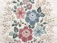 Cross Stitch Floral Bouquet Quilt