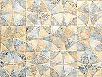 King Pastel Blue and Maize Winding Ways Quilt