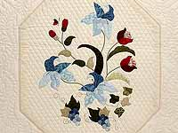King Blue and Rose Petal Showcase Quilt