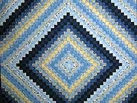 Blue and Yellow Color Splash Quilt