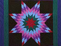 Twin Amish Lone Star Quilt