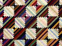 King Almost Amish Log Cabin on the Point Quilt