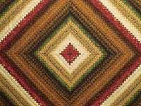 Green Gold and Red Postage Stamp Color Splash Quilt