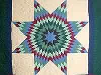 Amish Paperbag Lone Star Quilt