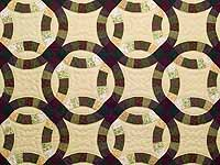 Earth Tones Double Wedding Ring Quilt