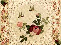 King Rose and Wheat I Promised You a Rose Garden Quilt