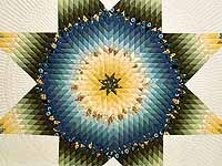 Blue Green and Yellow Lone Star Country Bride Quilt