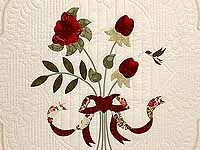 Red Roses on Ivory Lancaster Treasures Quilt